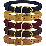 BRONZEDOG Rolled Leather Dog Collars