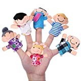 1st market ??幸せな家族の運指6パック6 x指人形。幸せな家族のメンバー人形操りセット。 Tスタイリッシュで人気
