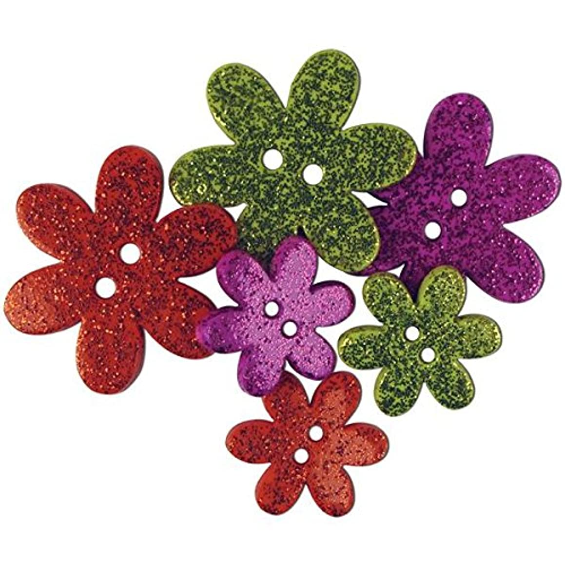 Blumenthal Lansing Favorite Findings Buttons, Flower Magic, Assorted, 6-Pack