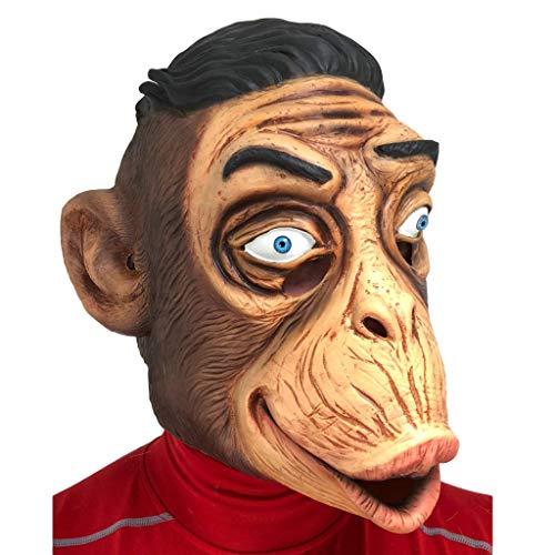 Rubber Johnnies , Affe Maske Lustig Erwachsene One Size Latex Zirkus Zoo Schimpanse Gesicht Tiermaske Kostüme Halloween Kapuze Gorilla King Suit Tier Masken für Erwachsene