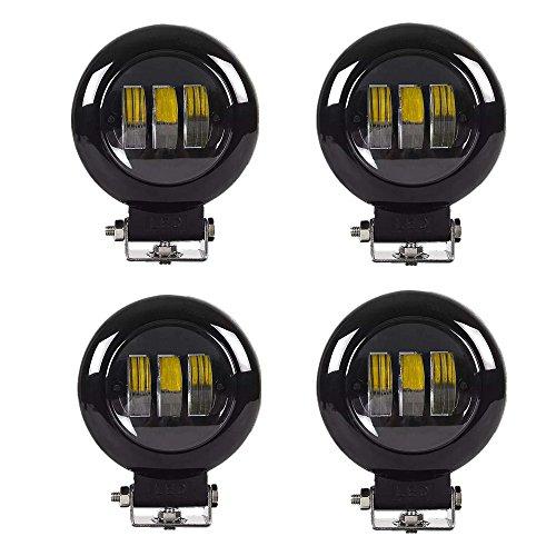 4PCS 30w LED Spot LED CREE Lumières pour Camion, Off Road, 4x4, SUV, UTV, VTT, Bateau, Moissonneuse,etc. PC-Lens, Plus de transmittance que la lumière ordinaire