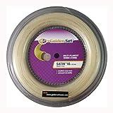 Golden Set Satin 16g (1.30mm), Reel (360ft/110m), Natural, Multi-Filament Tennis String