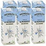 Monsoy - Bebida De Almendras BIO Sin Azúcar - Caja de 6 x 1L