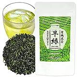 Green Tea - Premium Loose Leaf Tea Sencha - Saki Midori - Single Origin Organic Tea, Japanese Drinks, Iced Tea, Tea Beverages, Made in Japan (80g)【YAMASAN】