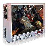 Capitán América Classic Puzzle Adult Kids Puzzle 1000 Piezas Puzzle de madera Winter Soldier Jigsaw Toy Juego mental Entretenimiento familiar 52x38cm-Marvel Hero