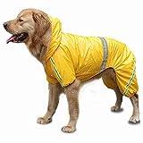 HOSui Chubasquero Perro Sudadera Perro Sudadera con Capucha Impermeable para Perros Chubasquero Perro PequeñO para Perros PequeñOs Medianos Grandes Yellow,X-Large