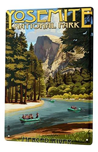 LEotiE SINCE 2004 Plaque en Métal Métallique Poster Mural tin Sign Agence Voyage Vacances Yosemite