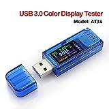 ARCELI USB 3.0 Farb-LCD Voltmeter Amperemeter Spannungsstrommesser Multimeter Batterieladung...