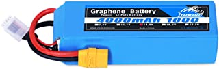 YOWOO Graphene Battery 4000mAh 100C 4S 14.8V Graphene Lipo Batterise with XT90 Plug for RC Truggy Truck Multirotors Hexacopter Octacopters Airplane (5.35x1.65x1.29inch, 1.02Ib)
