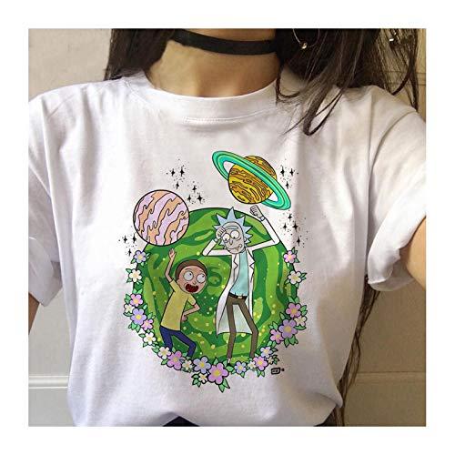 LHQ-HQ Camiseta De Rick Y Morty, Camiseta De Modal para Adultos, Camiseta De Portal para Mujeres, Niñas Y Adolescentes,L