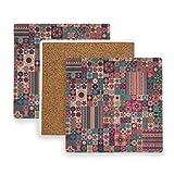 PANILUR Marokkanisches Patchwork geometrisches mit Blumenmuster deckt traditionelles arabisches...