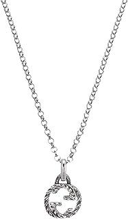 Gucci AURECO G - Ciondolo in argento a incastro, 45 cm