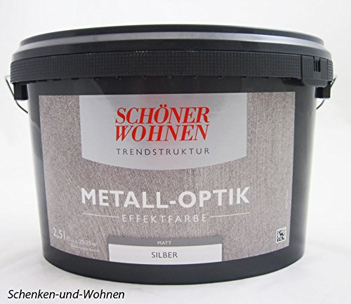 Trendstruktur - Metall-Optik Effektfarbe Silber matt 2,5 l