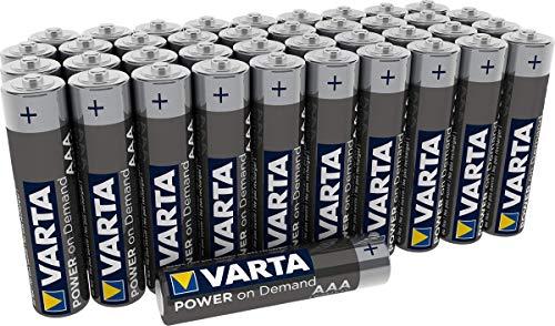 Batterie VARTA Power on Demand AAA Micro (adatte per accessori PC, dispositivi di domotica o torce) confezione da 40
