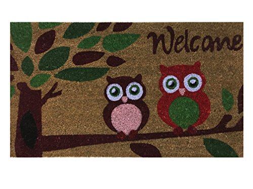 Welcome Coir Doormat by Castle Mats, Size 18 x 30 inches,...
