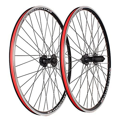 MZPWJD Ruedas 26 Pulgadas Bicicleta Montaña Ruedas Juego Disco Freno C/V Freno MTB Llanta Liberación Rápida Buje para 7/8/9/10 Velocidad Cassette