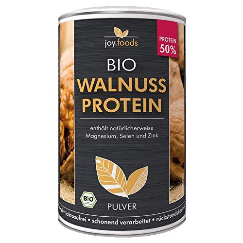 joy.foods Bio Walnussprotein, 50% Eiweiß, rein pflanzliche Proteinquelle, laborgeprüfte Qualität, 420 g