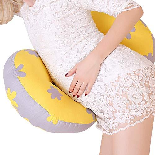 szyzl88 U-Förmig Schwangerschaft Kissen, Schwanger Damen Schlafen Kissen, Seite Schlafwiege, Doppel Keilabsatz Baumwolle Kissen, Hüft Bauch Stütz Kissen für Beide Bauch und Rücken