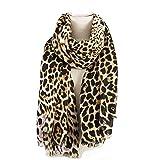 AIWANK Womens Leopard Print Scarf Winter Large Blanket Wrap Shawl Cheetah Scarves