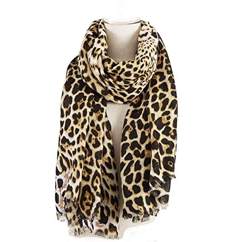 AIWANK Women Leopard Scarf Cheetah Print Summer Wrap Large Lightweight Shawl
