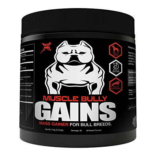 Muscle Bully Gains - Mass Weight Gainer, Whey Protein for Dogs (Bull Breeds, Pit...