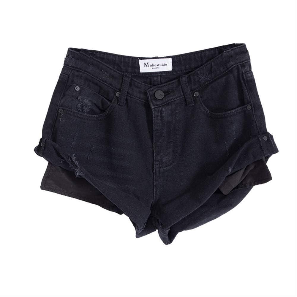 AILMY Womens shopping Denim Shorts Retro Unique Milwaukee Mall Stretch Flip Elegant Skin
