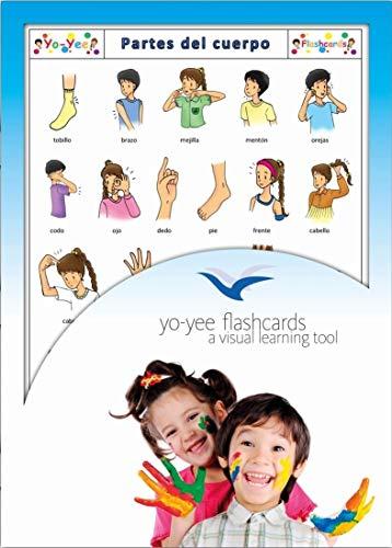 Yo-Yee Flashcards Grandes Cartes Images pour l'Encouragement linguistique - Corps / Parties du Corps - pour l'enseignement de l'Espagnol à la garderie, au Jardin d'Enfants et à l'école Primaire