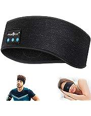 ink-topoint Sova hörlurar trådlösa, Bluetooth 5.2 sport pannband hörlurar handsfree sovande headset med IPX6 vattentäta högtalare för träning, jogging, yoga, sömnlöshet, resor (svart)
