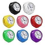 Baluue Anillo Reloj Reloj de Pulsera Anillo Unisex Reloj Aolly Portátil Reloj Impermeable Anillo de Dedo con Números Romanos para Mujeres Y Hombres (8 Piezas)