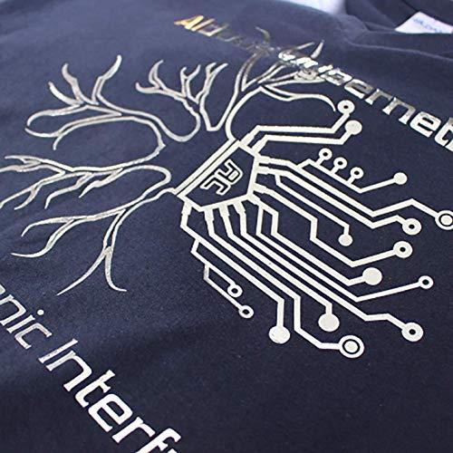 Aldous Cybernetics, camiseta negra o azul chico: Amazon.es: Handmade