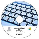 Recovery und Repair CD Für Windows 7 - Windows 8 - Windows 10 32 & 64 Bit Version - Dattenrettung...