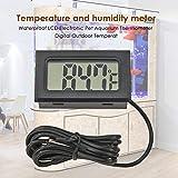 oreforde Thermomètre électronique numérique LCD pour Aquarium
