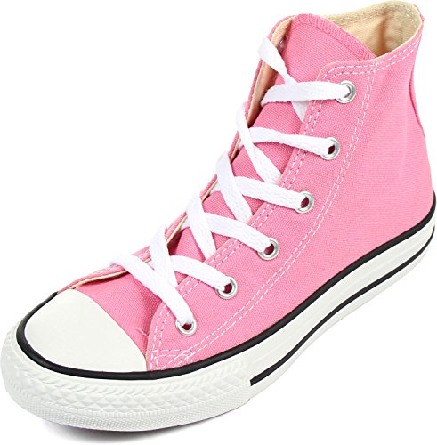 Converse Unisex-Child Chuck Taylor All Star Canvas High Top Sneaker, Pink, 16 M US