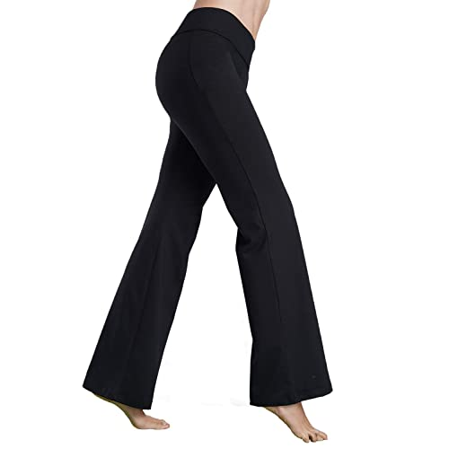 a4897c2c49e72 Bamans Womens Comfort Fit Bootcut Yoga Pants Workout Running Non See  Through Slim Stretch Wide Leg