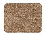 ASTRA waschbarer Fußabstreifer Baumwolle – saugstarke Fußmatte Entra – rutschfeste Matte – (90 x 150 cm – beige)