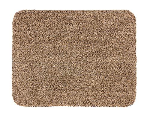 ASTRA waschbarer Fußabstreifer Baumwolle – saugstarker Sauberlauf Entra – rutschfeste Matte – (60 x 75 cm – beige)