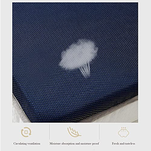 Colchones de Látex Natural Grueso, Tatami Doble para el Hogar, Plegable, para Colchón de Dormitorio, Mantiene el Calor M+ / B / 150x200cm