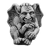 gartendekoparadies.de Massive Steinfigur Lustier Gargoyle Motiv I Torwächter Gartendeko aus Steinguss frostfest