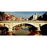ジローナ、スペイン橋の建設5D Diyのダイヤモンド塗装刺繍刺繍ラウンドラインストーンクロスステッチリビングルームの装飾