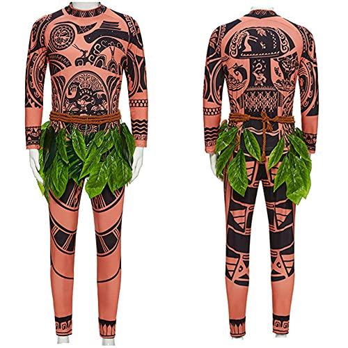 AMZOLNE Disfraz de Halloween Maui Moana Disfraz de actuación Anime Traje Adulto-Traje Maui_140