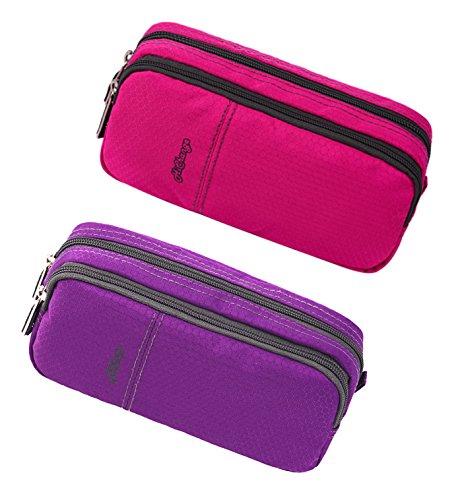 HiChange Pencil Case (2Pack Pink+Purple)