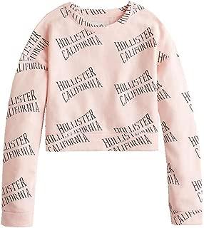 Graphic Crewneck Crop Sweatshirt