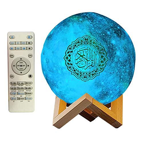 H HILABEE Novedad Luz de Noche Musulmana Colorida con Control Remoto 15 Idiomas - Planeta