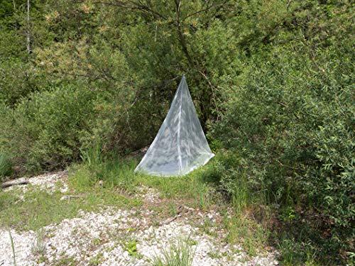 Brettschneider Moskitonetze Moskitonetz Expedition Pyramid Single mit Greenfirst Imprägnierung Mosquitera, Unisex Adulto, Blanco, One sizesex