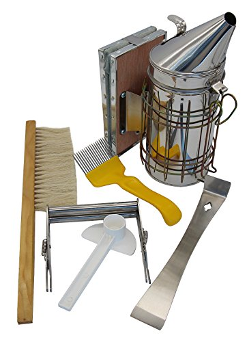 Blisstime Beekeeping Tool Kit Set of 6 Bee Hive Smoker,Bee Brsuh...