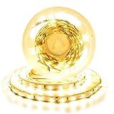 Arotelicht 24V LED Strip warmweiß 300 LEDs 5M 5050SMD Band Leiste Streifen 3000K Lichterkette Stripe Lichtleiste Innen Deko Lichter, nicht wasserdicht IP20, 60LEDs/M