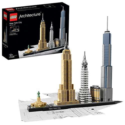 LEGO Architecture - New York, Set de Construcción de Nueva York con el Empire State y la Estatua de...