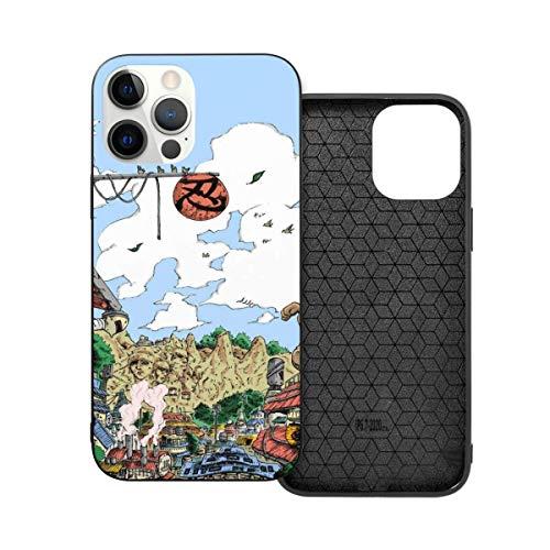 ZhangyJ Caja de teléfono Negra Naruto Hidden Leaf Village Compatible con iPhone 12/12 Pro MAX Mini 6/6s 7/8 Plus X/XS XR 11 Pro MAX SE 2020 Samsung Huawei LG Series Caso