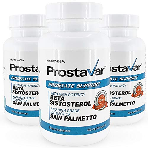 Prostavar Prostate Support with Saw Palmetto - 3 Bottles