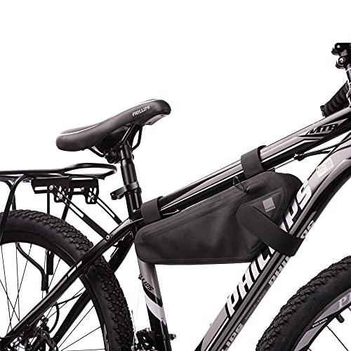 Tofern Borse da Telaio da Bicicletta Moda MTB BMX Bicicletta Ciclismo Triangolo Sacchetto Nero